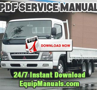 1997-2000 Mitsubishi FUSO Canter FE, FB Truck Service Manual EUROPE