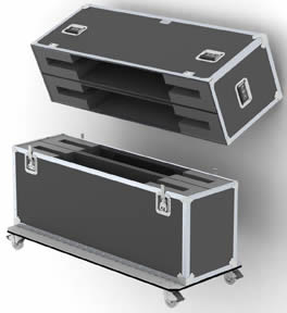 """Wilson Custom Cases_W076-Dual PL50 50""""-60"""" LED-LCD Shipping Case"""