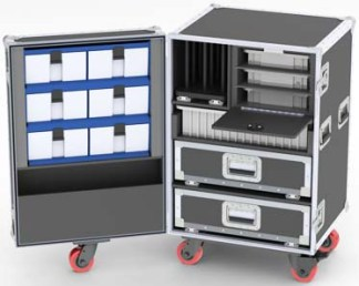 HOTELPRO-1 Upright Drawers-Trays-Bins Road Case-DP68-990