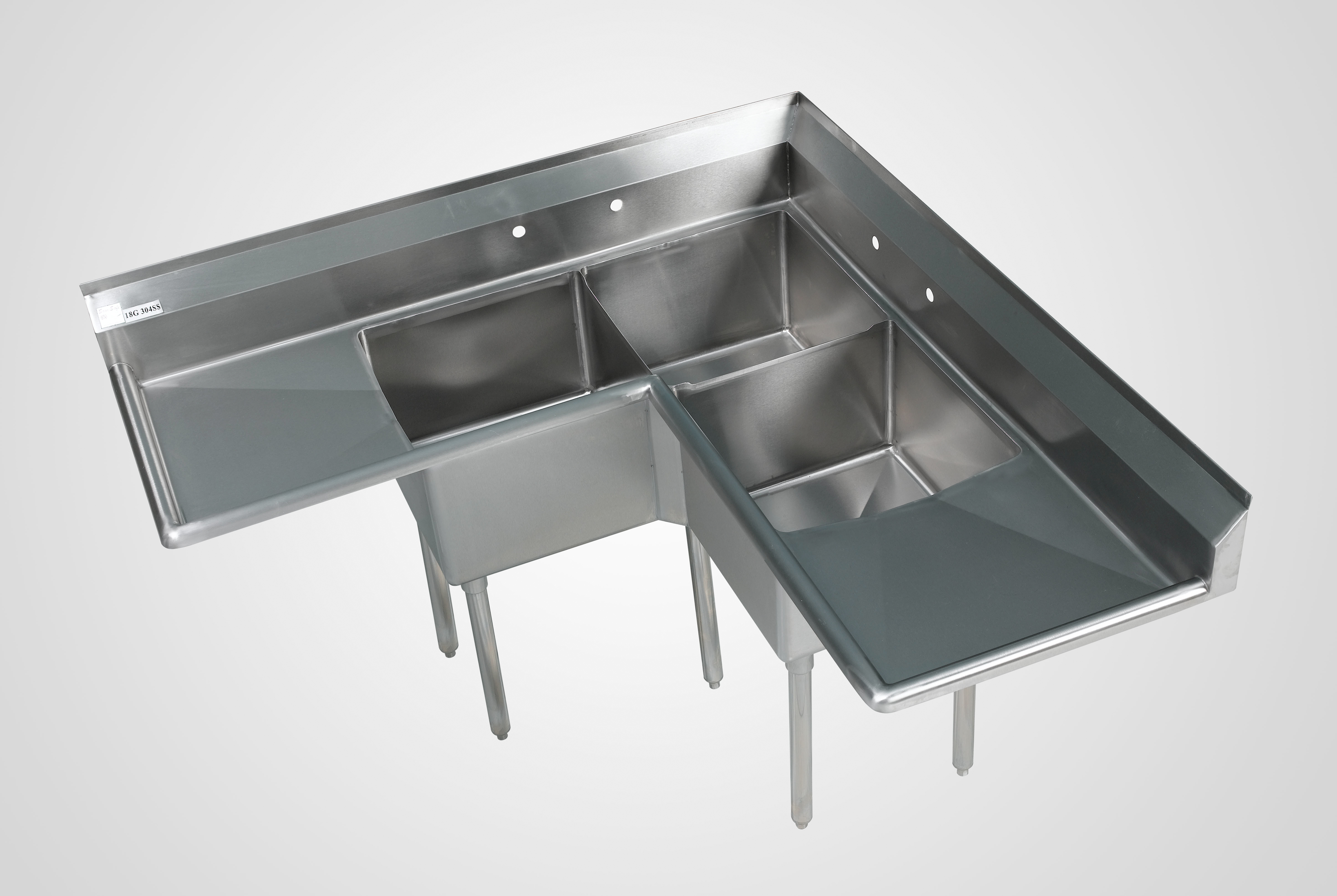 3 compartment stainless sinks 3 bowl commercial kitchen sinks restaurant sinks and more