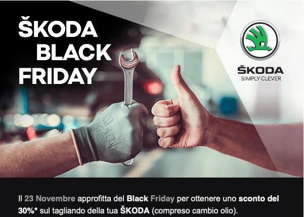 tagliando Black Friday 2018 sconto skoda 30%