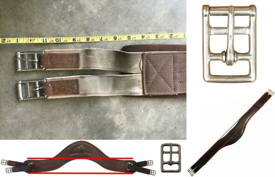 Girths, buckles, elastic, saddle fit