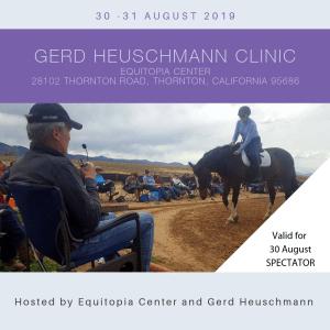 Gerd Heuschmann clinic 30 August