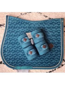 tapis mixte velvet et bandes kentucky emeraude