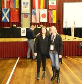 Junto a la Clr Gabriela Alfano- Equipo Psicológico de la Fund. Era en Abril