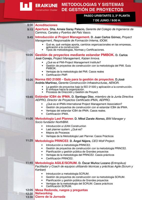 Programa de la Jornada Eraikal en Bilbao