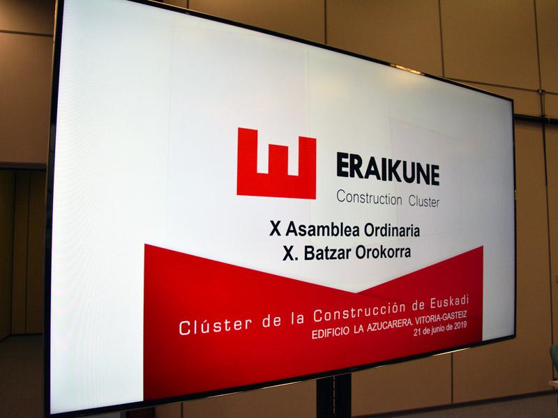 La X Asamblea General de Eraikune se celebró en Vitoria-Gasteiz, en el edificio La Azucarera gestionado por Sprilur
