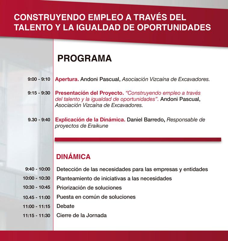 Programa de la jornada Construyendo Empleo