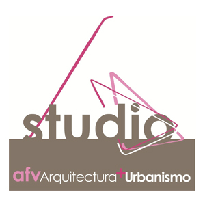 Logotipo de la empresa de arquitectura AFV de Portugalete