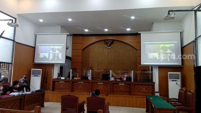 Penampakan sidang lanjutan kasus Gus Nur di Pengadilan Negeri Jakarta Selatan. (Suara.com/Arga)