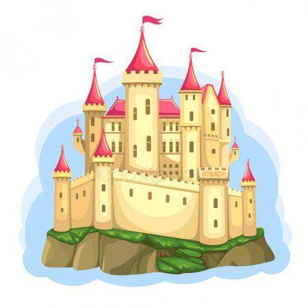 Fairytale Castle Rock Palace Princess Isolated Cartoon Illustration  Wonderland V , #AFF, #Rock, #Pala…   Castle illustration, Fairytale castle,  Cartoon illustration