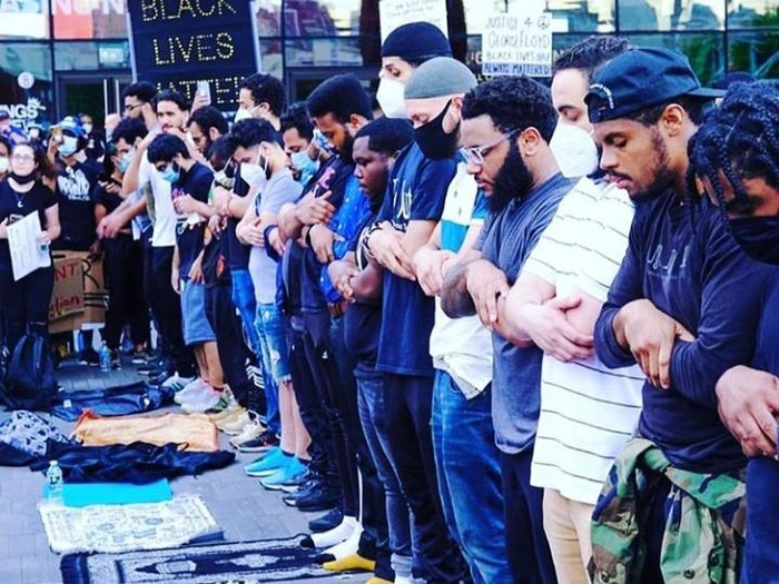 Kesaksian Imam Shamsi Ali soal Viral Peserta Aksi George Floyd Sholat