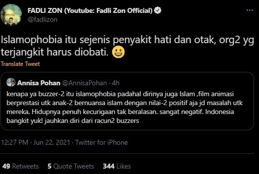 Annisa Pohan Heran Ada Buzzer Beragama Islam Tapi Islamophobia, Fadli Zon Beri Jawaban