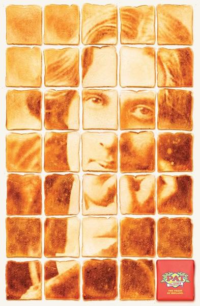 Oscar Wilde inmortalizado sobre unas tostadas