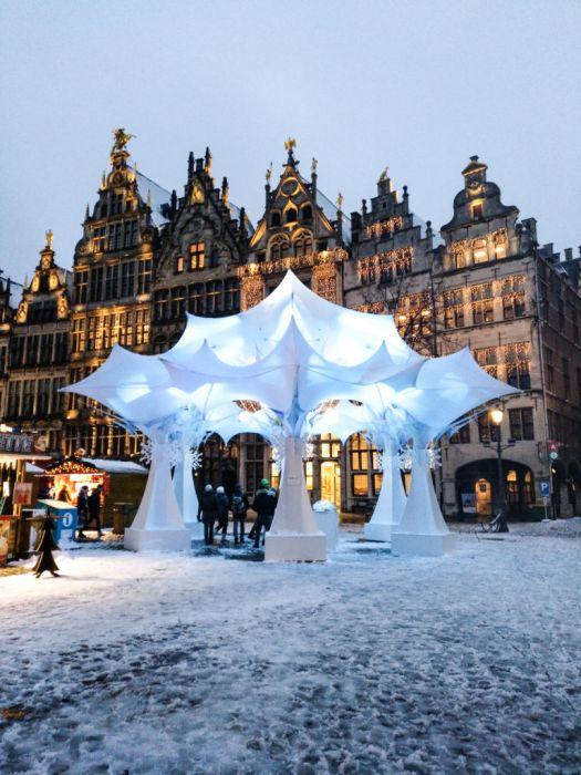 Pedalear para encender la Navidad - Winter in Antwerp 3 - Pedalear para encender la Navidad