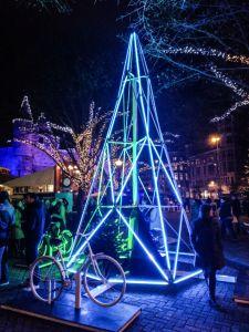 Pedalear para encender la Navidad - Winter in Antwerp 5 - Pedalear para encender la Navidad