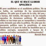 Beltort Brecht, «Apolítico»