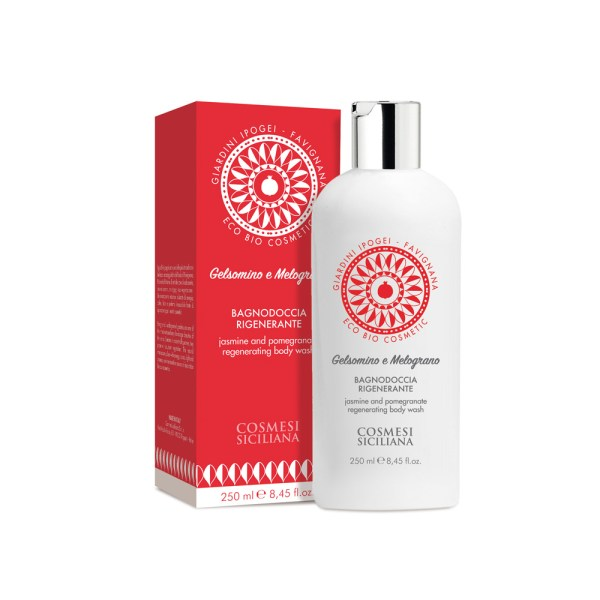 Bagnodoccia rigenerante - Gelsomino e melograno - Cosmesi Siciliana | Erboristeria Erbainfusa Como | Shop Online