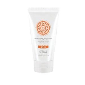 Crema solare viso e corpo spf 15 - Cosmesi Siciliana | Erboristeria Erbainfusa Como | Shop Online
