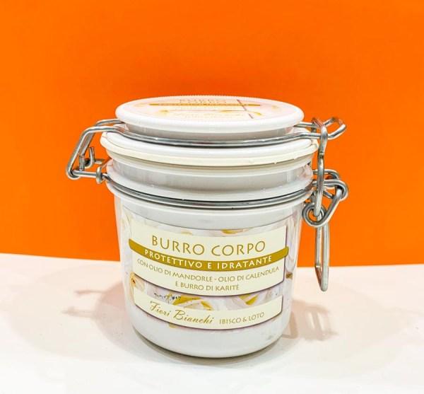 Burro corpo - fiori bianchi - Sapone Marino | Erboristeria Erbainfusa Como | Shop Online
