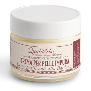 Crema viso pelle impura al succo di bardana - Qualiterbe | Erboristeria Erbainfusa Como | Shop Online