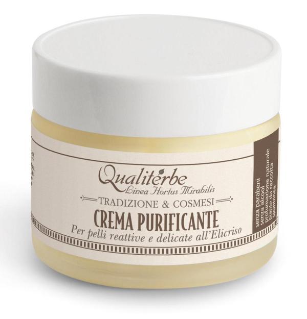 Crema viso purificante all'elicriso - Qualiterbe | Erboristeria Erbainfusa Como | Shop Online