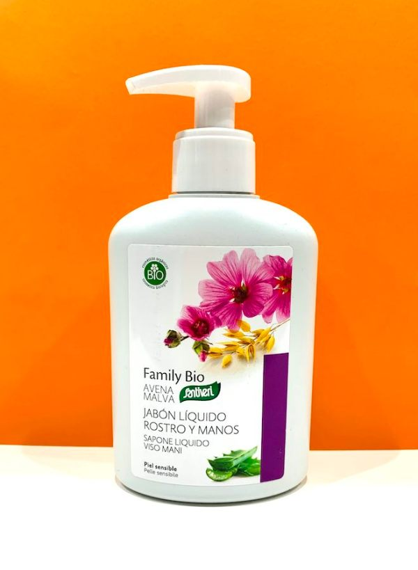 Sapone liquido viso mani avena malva - Santiveri | Erboristeria Erbainfusa Como | Shop Online