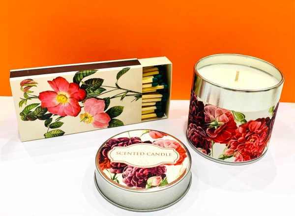 Candela di soia - rosa rossa - Erbainfusa | Erboristeria Erbainfusa Como | Shop Online