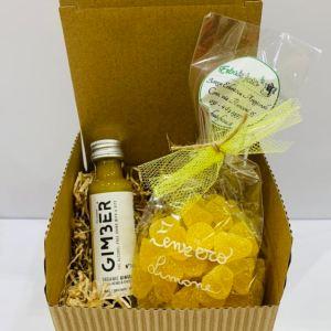 Confezione regalo Gimber e caramelle miele limone e zenzero - Erbainfusa | Erboristeria Erbainfusa Como | Shop Online