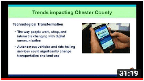 Watch our program featuring Brian O'Leary, Chester County Planning Commissioner