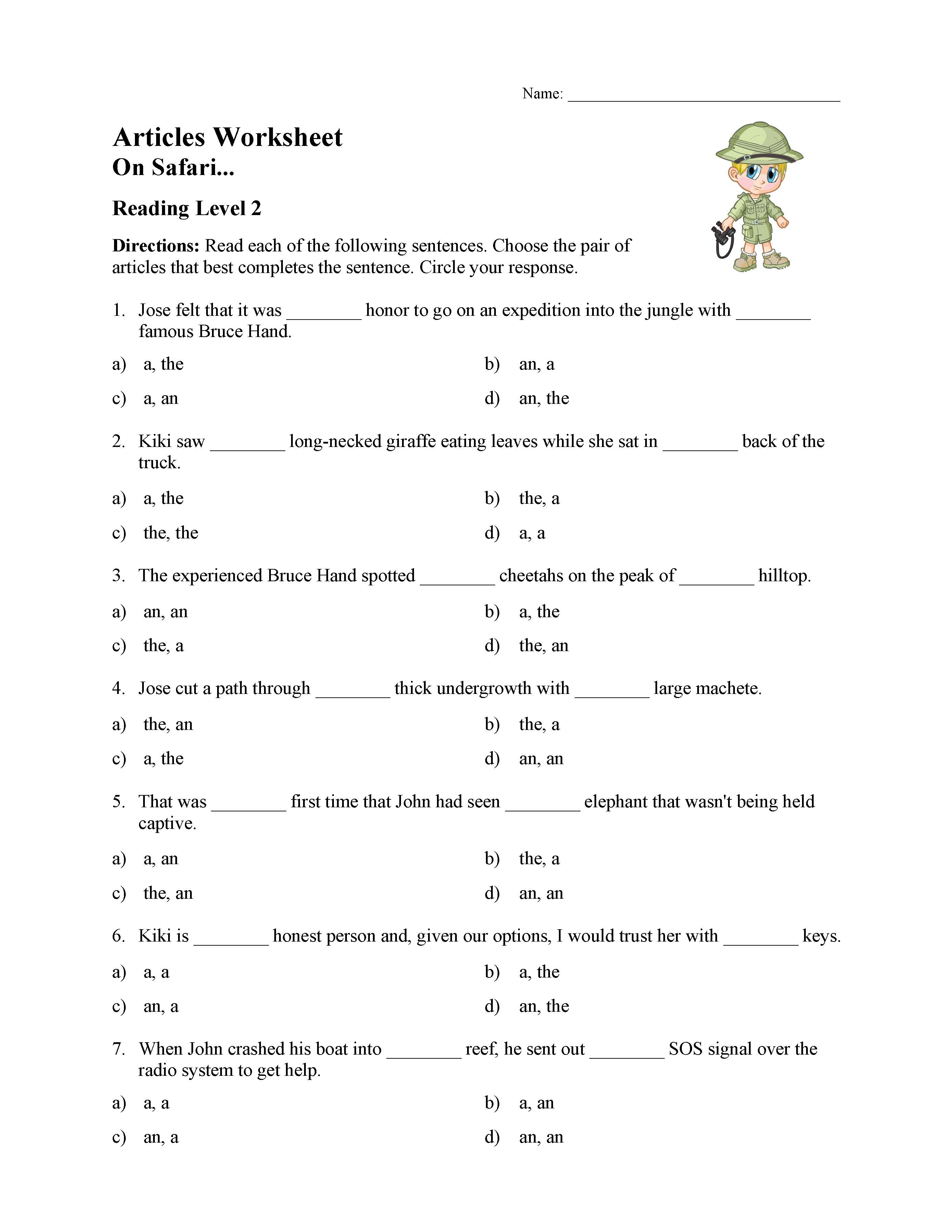 Worksheet In Articles