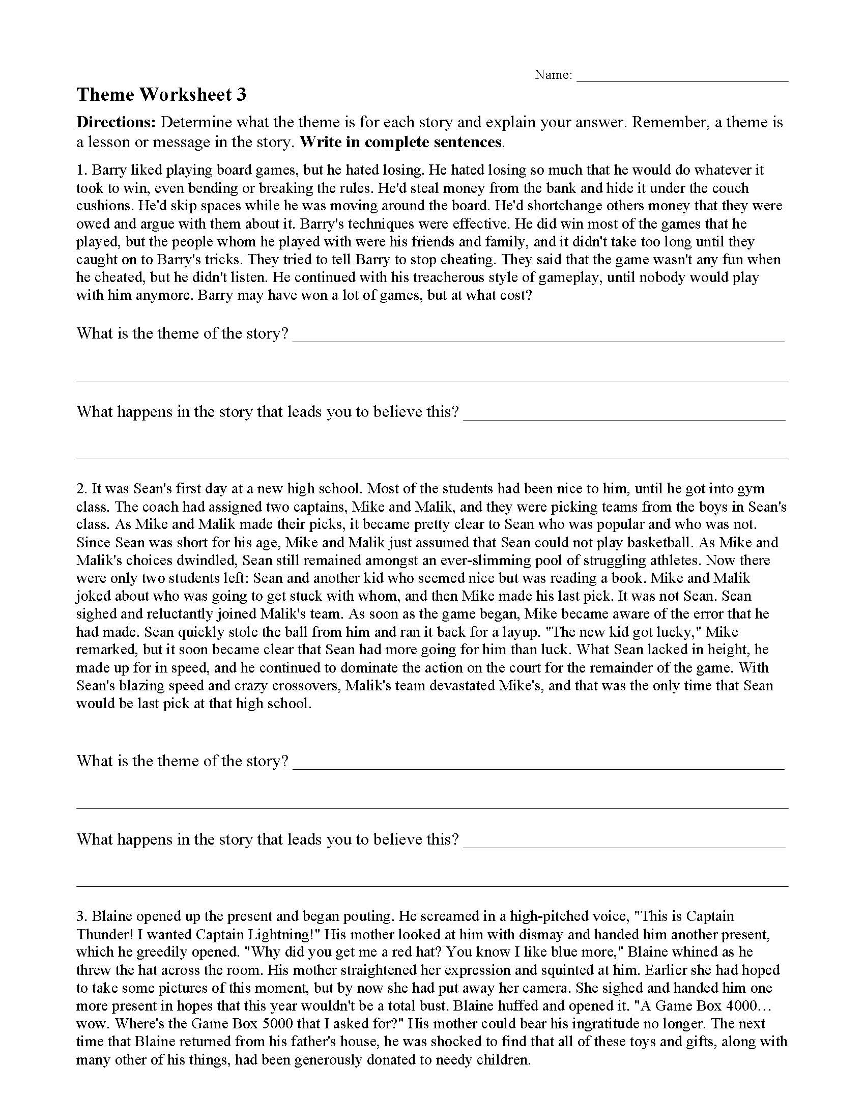 - Reading Worksheets With Answers On Them Printable Worksheets And