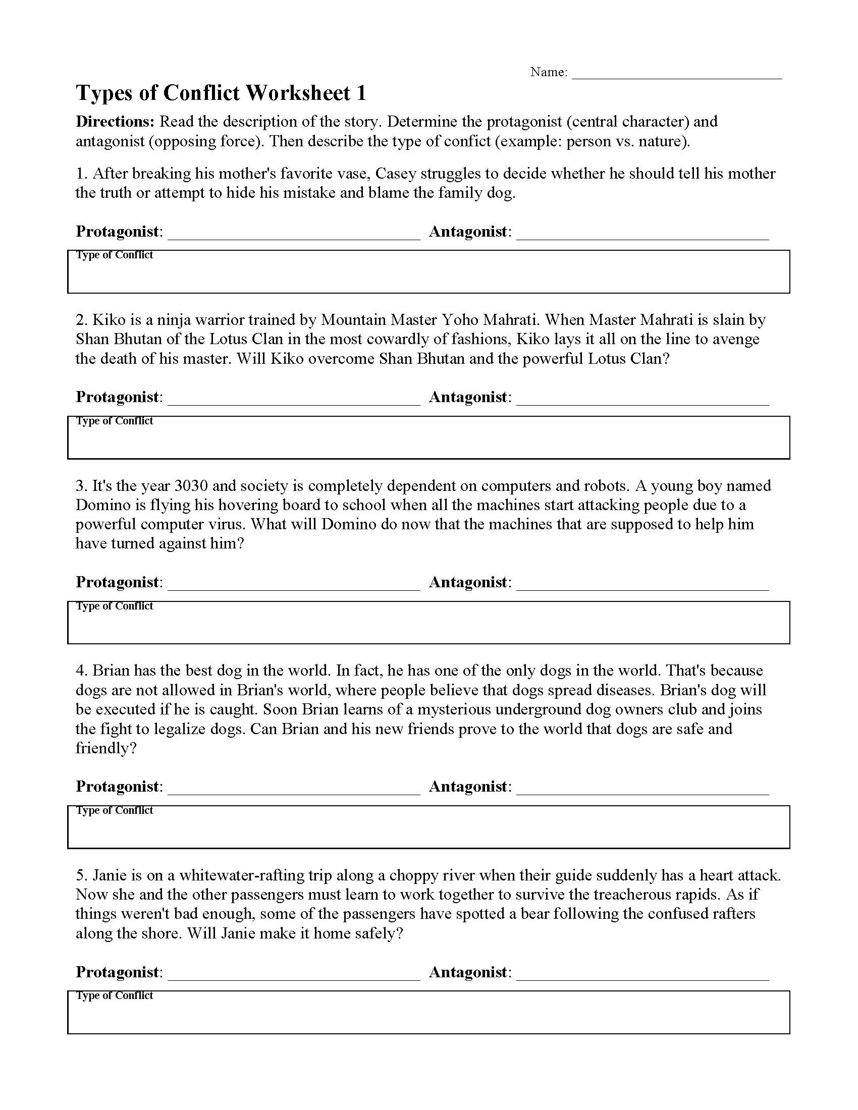 Elements Of Poetry Worksheet For Middle School