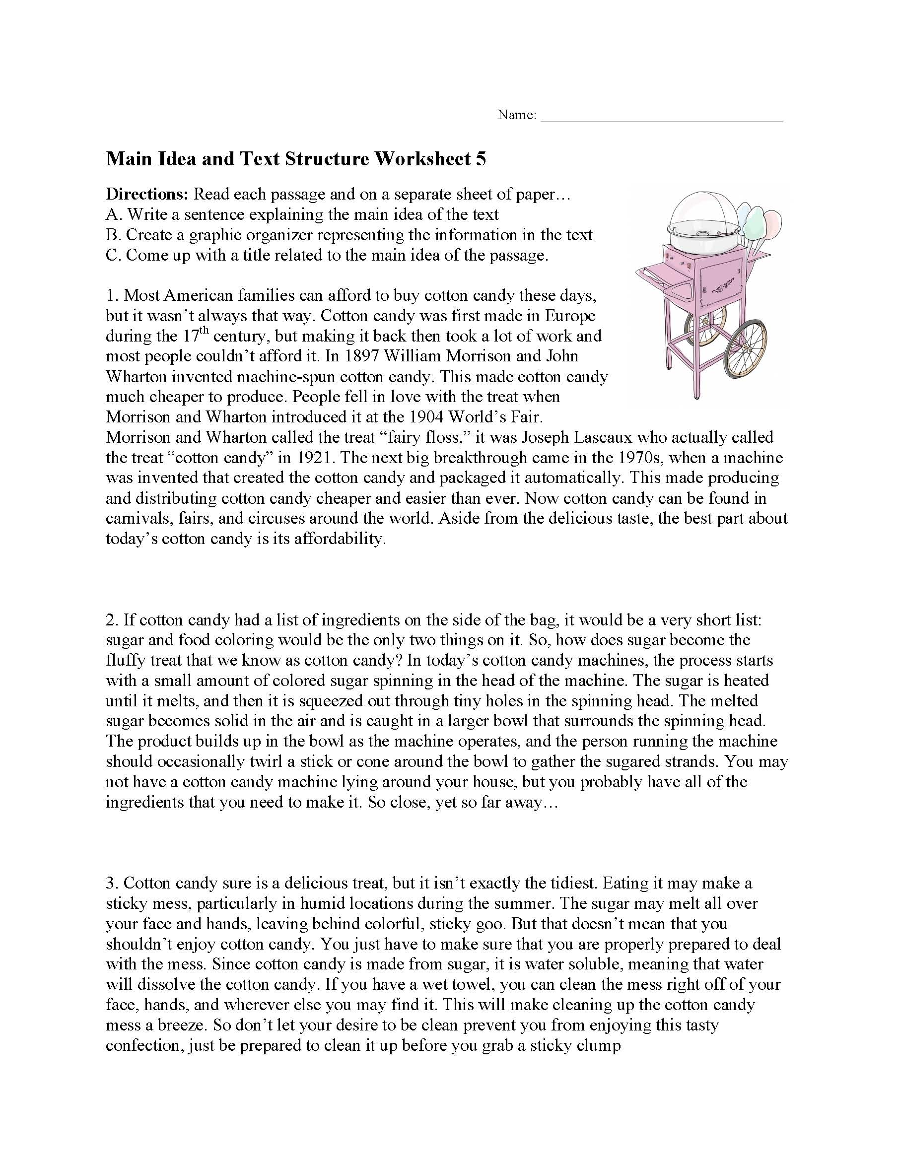 Preview The Text Worksheet