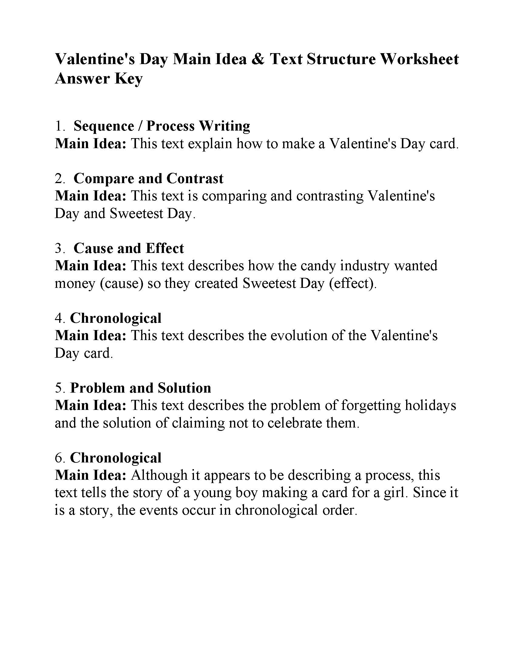 Main Idea Worksheet 4