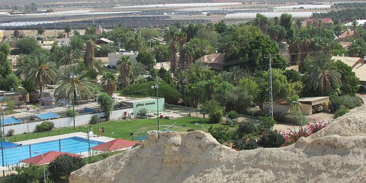 Moshav Ne'ot Hakikkar is located in the desert near the Dead Sea. (Adriel)