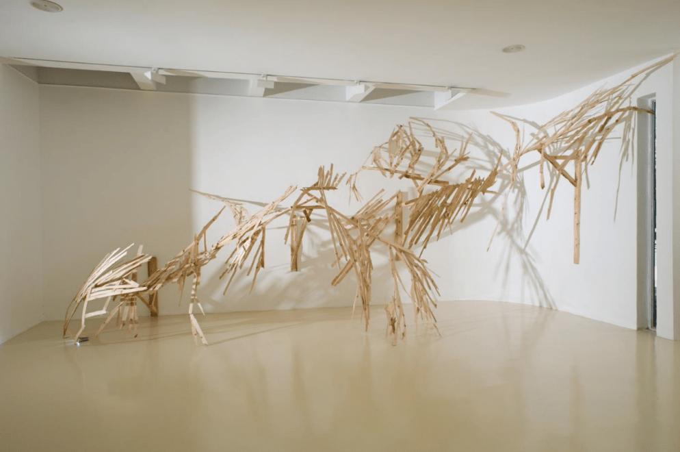 אביטל כנעני, ללא כותרת, 2010. עץ, 300/900/150 ס״מ