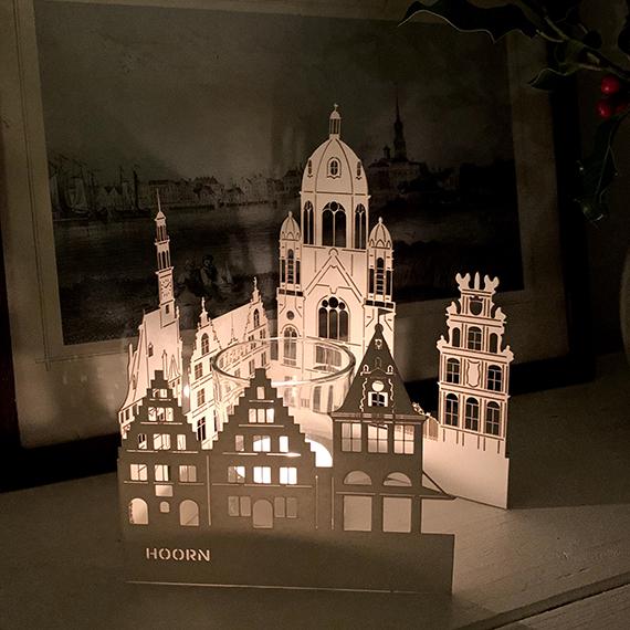 pop-up kaart erfgoed hoorn bijzonder kerstcadeau