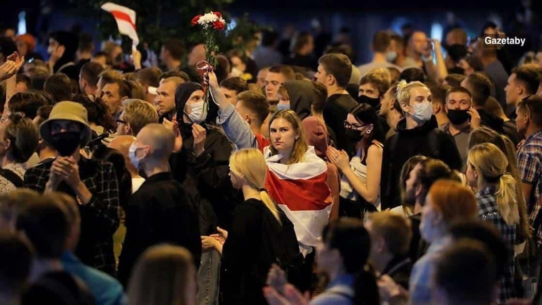Οι βιομηχανικοί εργάτες διαδηλώνουν στη Λευκορωσία