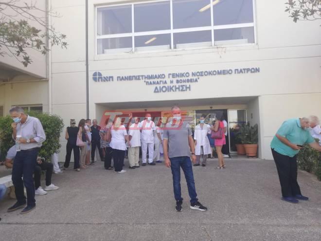 """Πάτρα: Εργαζόμενοι κατέλαβαν τα Γραφεία των Διοικήσεων σε ΠΠΝΠ και """"Άγιο Ανδρέα""""-Αντιδρούν στις αναστολές"""