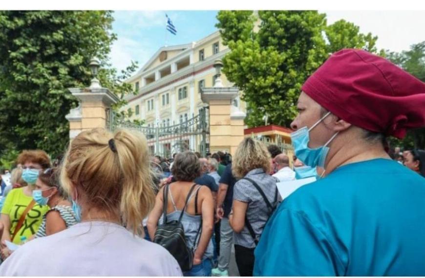 Θεσσαλονίκη: Μαζικό «όχι» στην υποχρεωτικότητα από τους υγειονομικούς – «Ναι» στον εμβολιασμό (video)