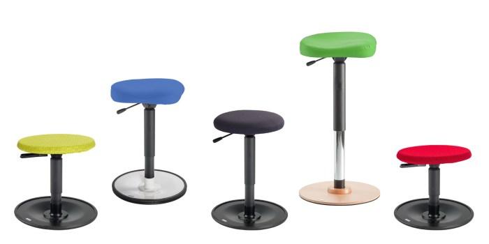 Bewsgungshocker und Stehhilfe LeitnerWipp in verschiedenen Sitzhöhen