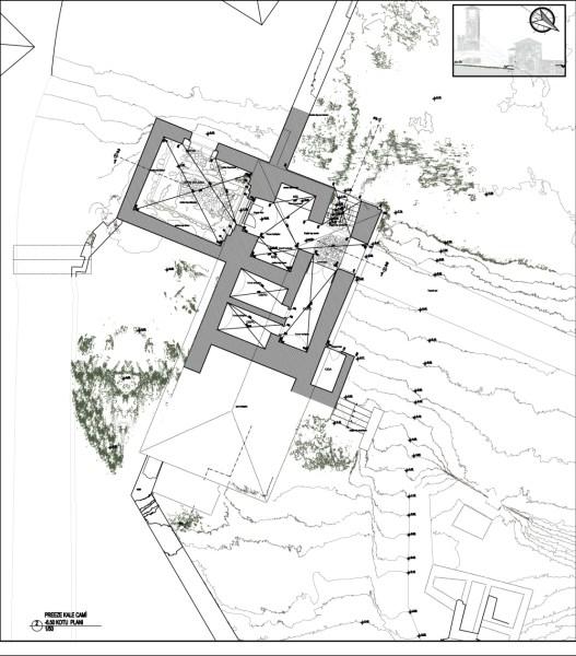 -6,50 Kotu planı- Kaleye giriş, tonozlu mekan ve odalar (şekil 2)