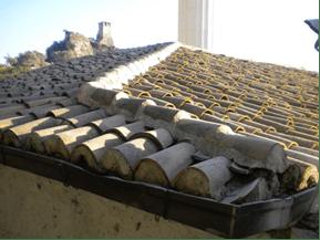 Uygulama öncesinde mevcut çatı durumu (fotoğraf 13
