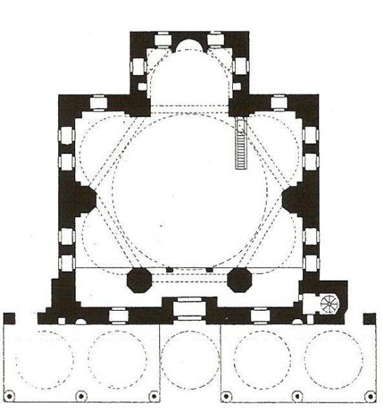 Şekil 1 Molla Çelebi Camii Planı