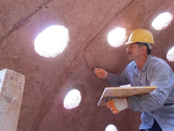 Hamam Kubbesinde kaba sıva yapımı