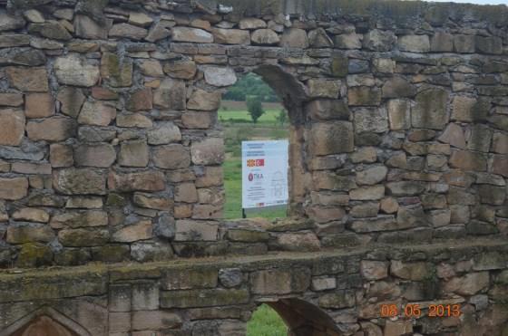 Harim içinden geç dönemde örülen duvar bölümü