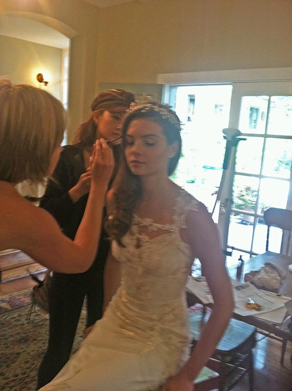 Jamie & Tokiko working on Vanessa in Claire Pettibone