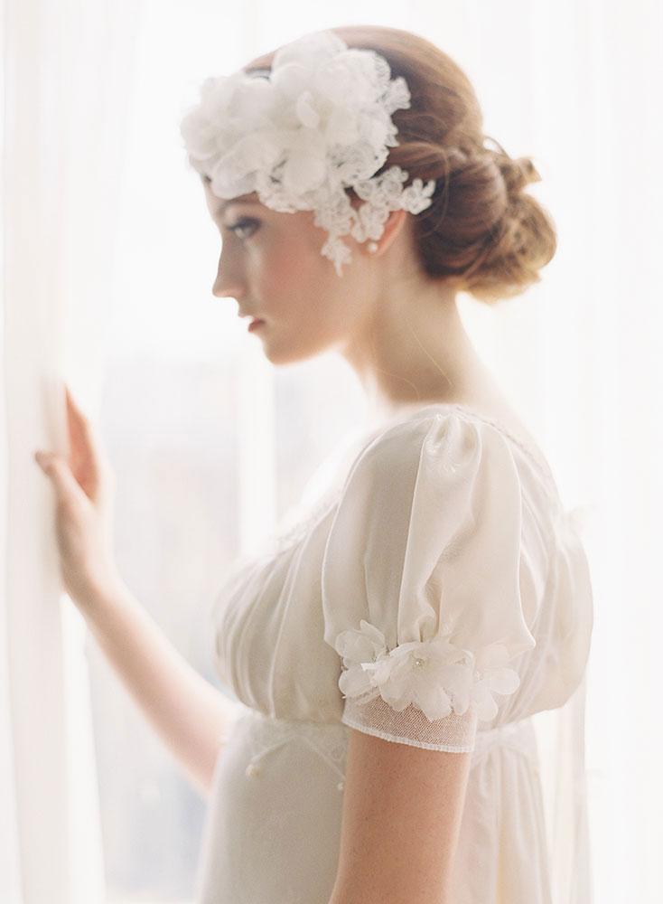 PRIMROSE DOUBLE SILK FLOWER BRIDAL HEADPIECE HAIR SET