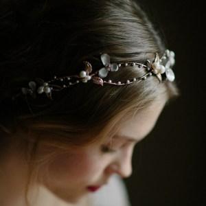 rose gold boho flower crown